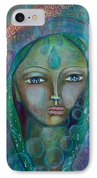Visioning Woman Of Living Waters Phone Case by Havi Mandell