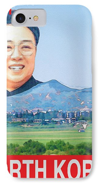 Visit North Korea Travel Poster IPhone Case by Finlay McNevin