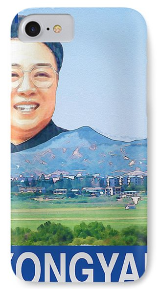 Visit Pyongyang Travel Poster IPhone Case by Finlay McNevin