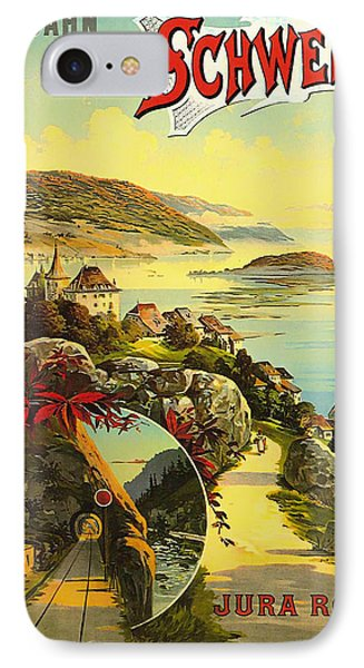 Visit Switzerland 1895 Phone Case by Mountain Dreams