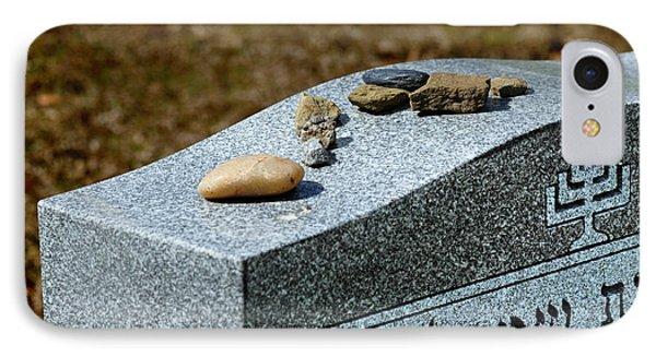 Visitation Stones On Jewish Grave IPhone Case