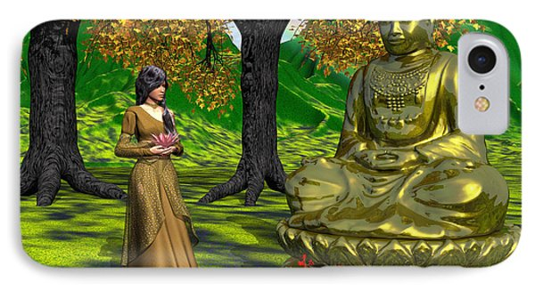 Visiting Buddha IPhone Case by Michele Wilson
