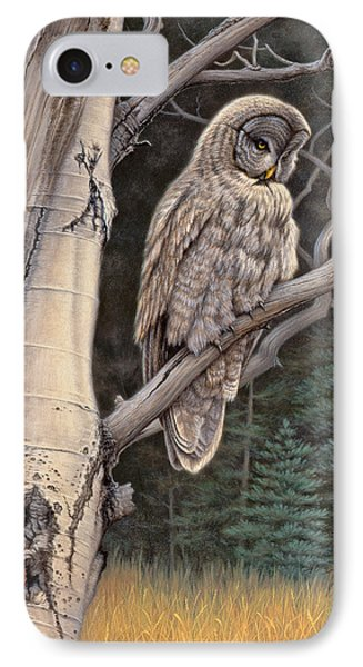 Visitor From The North-great Grey Owl IPhone Case