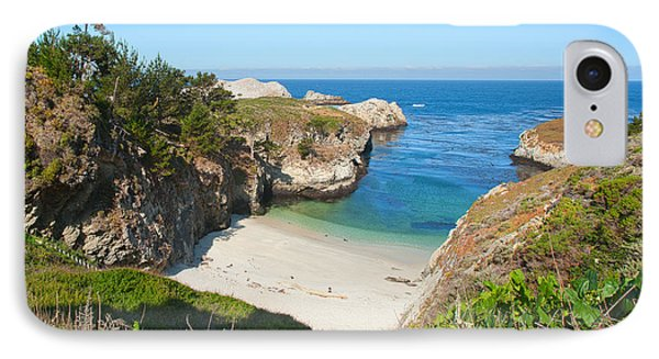 Vista Of China Cove At Point Lobos State Reserve California IPhone Case by Artist and Photographer Laura Wrede