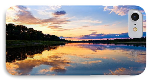 Vistula River Sunset Phone Case by Tomasz Dziubinski