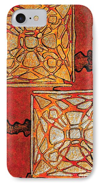 Vitrales II From The Frank Lloyd Wright A Mano Series IPhone Case by Chary Castro-Marin