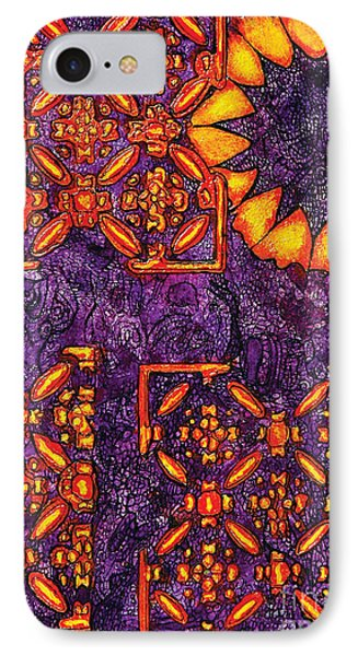 Vitrales IIi From The Frank Lloyd Wright A Mano Series IPhone Case by Chary Castro-Marin