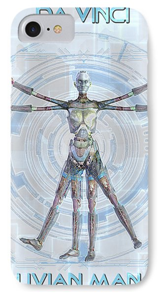 Vitruvian Man 3000 Phone Case by Frederico Borges