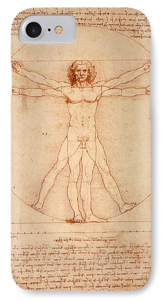 Vitruvian Man IPhone Case by Bill Cannon