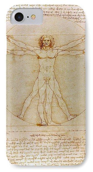 Vitruvian Man By Leonardo Da Vinci  IPhone Case by Karon Melillo DeVega