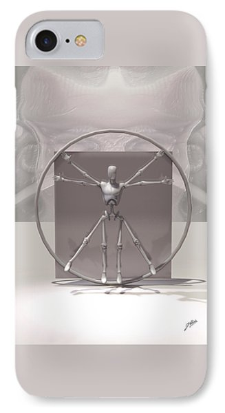 The Vitruvian Android IPhone Case