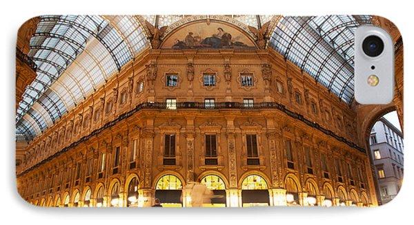 Vittorio Emanuele II Gallery Milan Italy Phone Case by Michal Bednarek