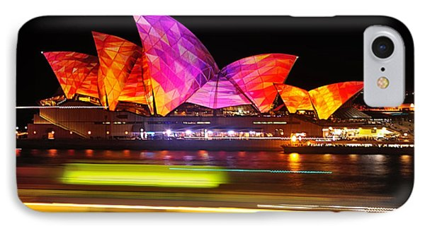 Vivid Sydney By Kaye Menner - Opera House ... Triangles Phone Case by Kaye Menner