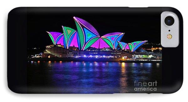 Vivid Sydney By Kaye Menner - Opera House... Patterns 2 Phone Case by Kaye Menner