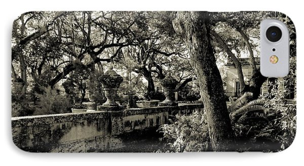 Vizcaya Garden Courtyard IPhone Case by Maria Huntley