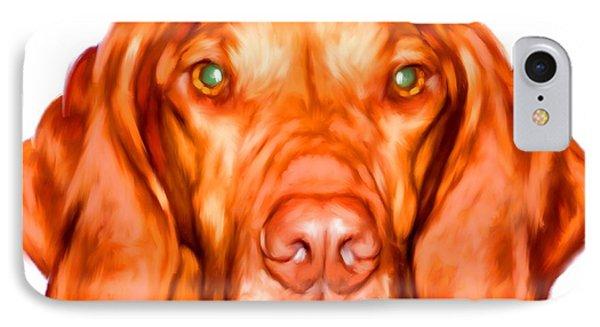 Vizsla Dog Art Portrait IPhone Case by Iain McDonald