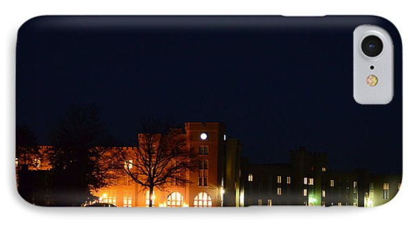 IPhone Case featuring the photograph Vmi Night Lights by Cathy Shiflett