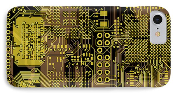 Vo96 Circuit 5 Phone Case by Paul Vo