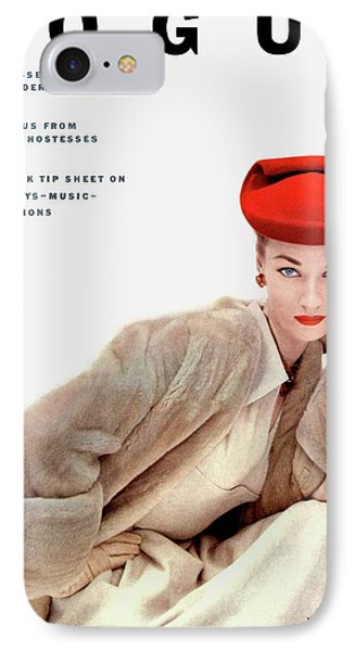 Vogue Cover Of Janet Randy IPhone Case by Clifford Coffin