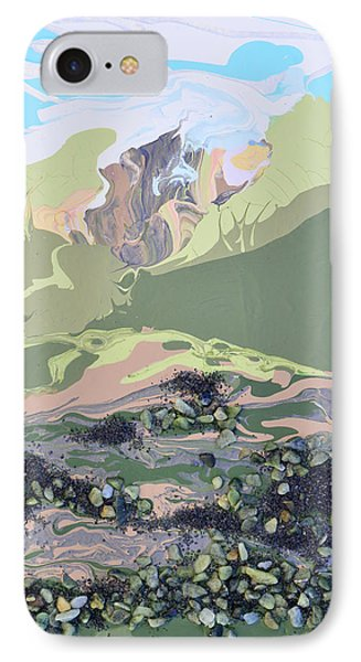 Volcano In The Mist IPhone Case