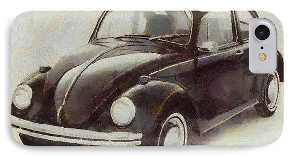 Volkswagen Beetle Live Below Your Means IPhone Case by Dan Sproul