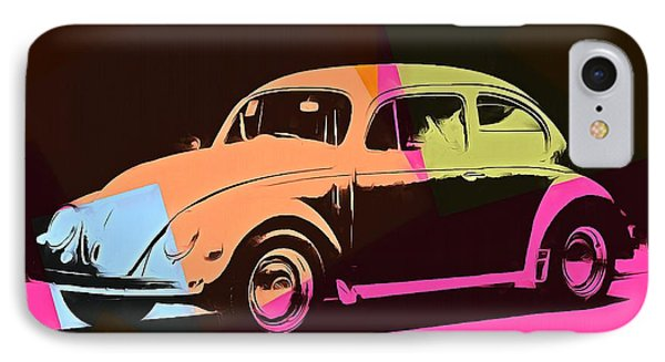 Volkswagen Beetle Pop Art 2 IPhone Case by Dan Sproul