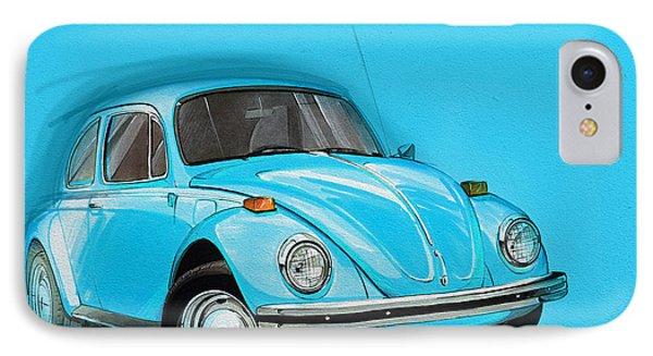 Volkswagen Beetle Vw Blue IPhone Case