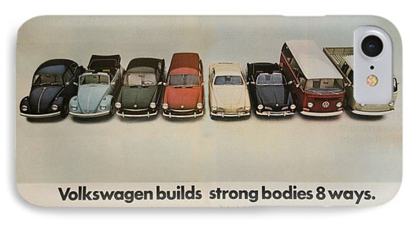 Volkswagen Body Facts IPhone Case by Georgia Fowler