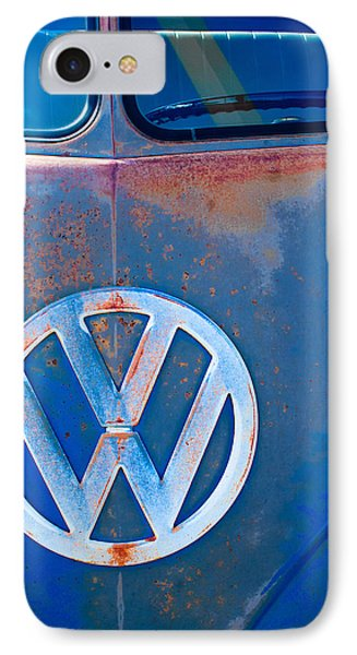 Volkswagen Vw Bus Emblem Phone Case by Jill Reger