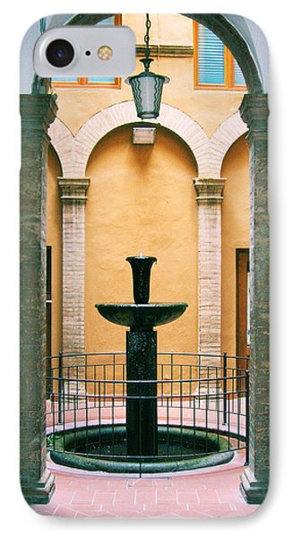Volterra Courtyard IPhone Case by Maria Huntley