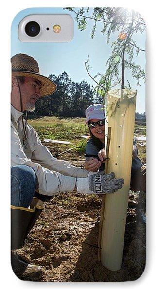 Volunteers Planting Trees IPhone Case by Jim West