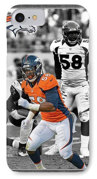 Von Miller Broncos Phone Case by Joe Hamilton