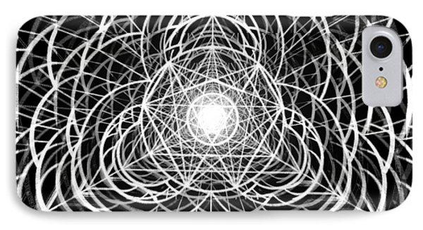 IPhone Case featuring the drawing Vortex Equilibrium by Derek Gedney