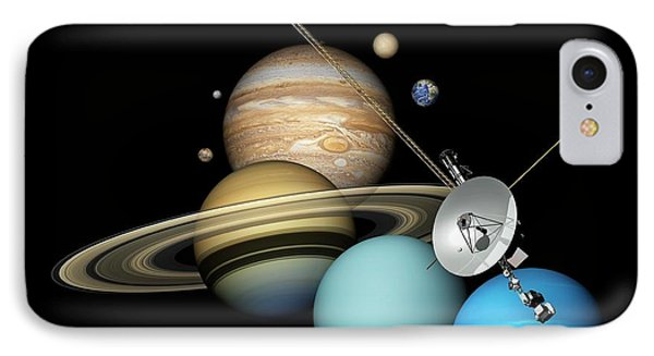 Voyager 2 And Planets IPhone Case