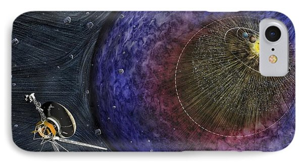 Voyager Leaving The Solar System IPhone Case by Nicolle R. Fuller