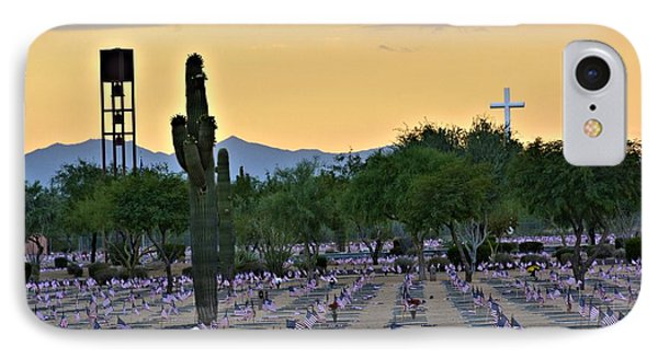Vtes Cemetery And Cross IPhone Case by Richard Jenkins