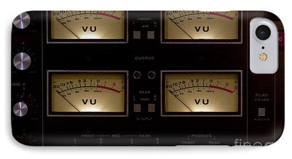 IPhone Case featuring the photograph Vu Meter Input Output by Gunter Nezhoda