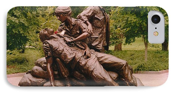 IPhone Case featuring the photograph Viet Nam Nurse's Memorial by Jesse Ciazza