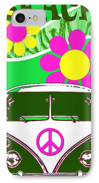 Vw Beach  Green IPhone Case
