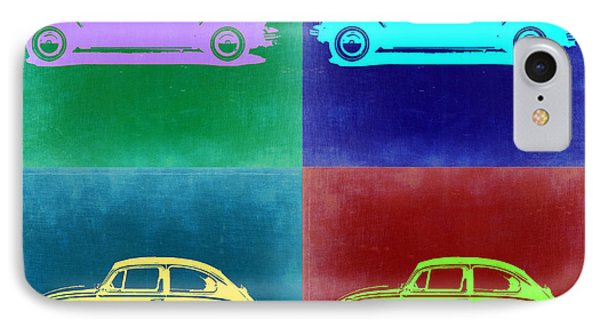 Vw Beetle Pop Art 3 IPhone Case by Naxart Studio