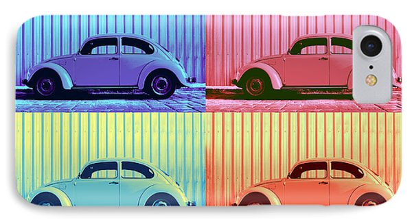 Vw Beetle Pop Art Quad IPhone 7 Case by Laura Fasulo