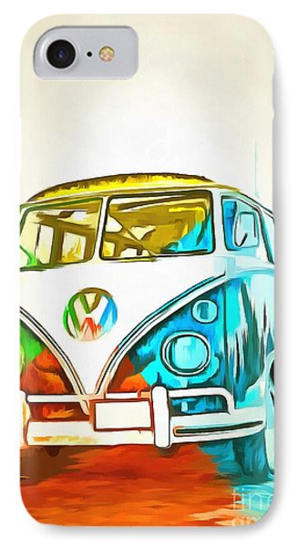 Vw Bus Pop Art 5 IPhone Case by Edward Fielding