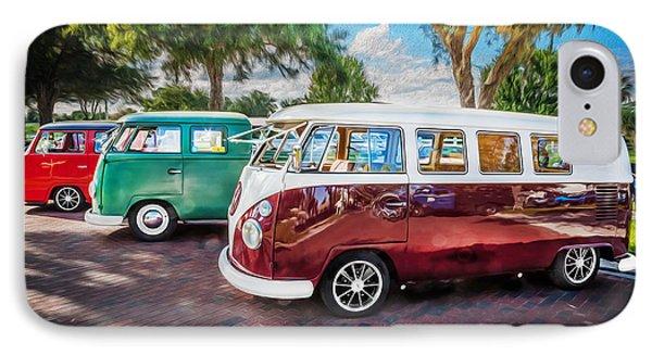 Vw Bus Stop 1964 1961 1968 Vans Trucks Painted IPhone Case