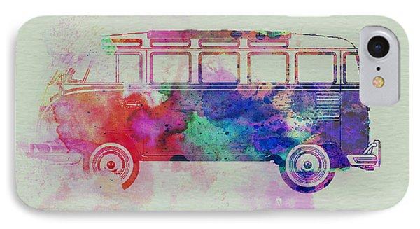 Vw Bus Watercolor IPhone Case by Naxart Studio