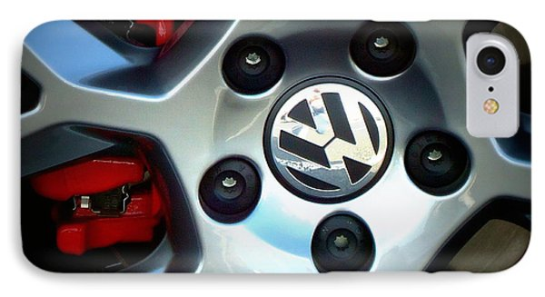 Vw Gti Wheel IPhone Case by Joseph Skompski