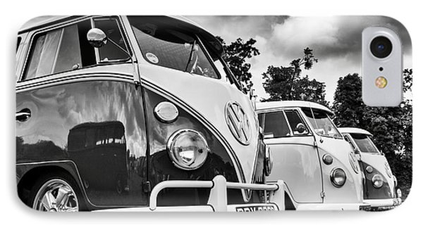Vw Splitties Monochrome IPhone Case by Tim Gainey