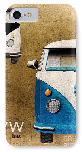 Vw The Bus Phone Case by Tim Gainey