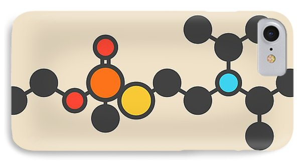 Vx Nerve Agent Molecule IPhone Case by Molekuul