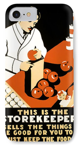 W P A  Food Hygiene Poster C. 1937 Phone Case by Daniel Hagerman