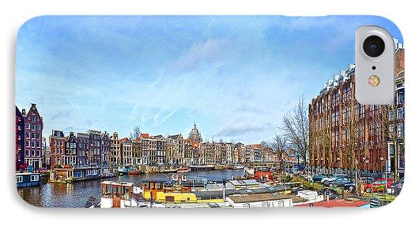 Waalseilandgracht Amsterdam IPhone Case by Frans Blok